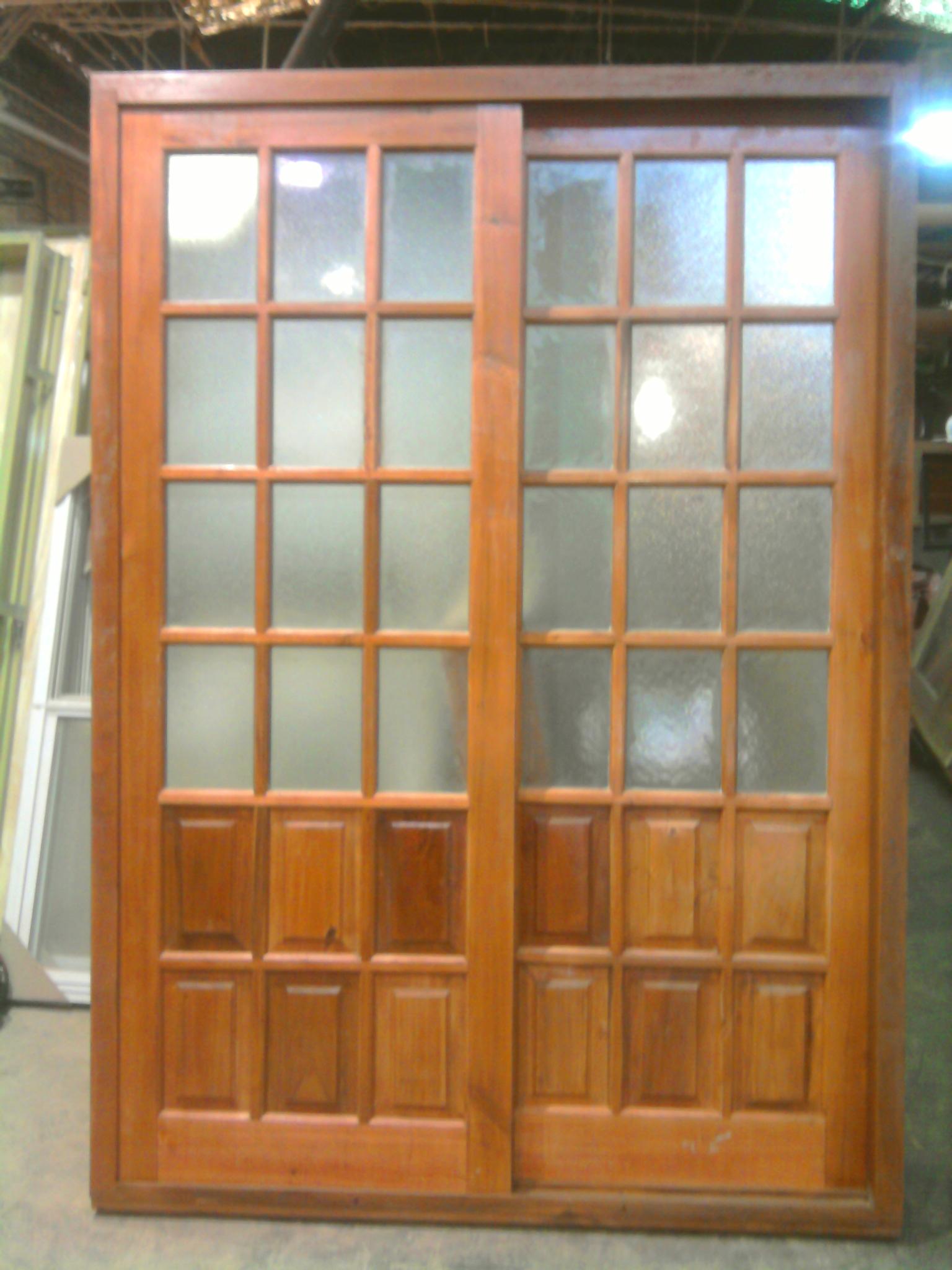 Puertas de madera con vidrio good puertas vidrio madera - Puertas de madera con cristal ...